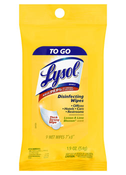 LYSOL Disinfecting Wipes  To Go  Lemon  Lime Blossom  Photo