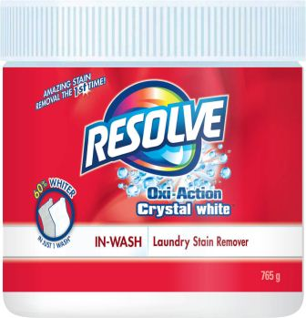 RESOLVE® Oxi-Action™ Crystal White® In-Wash Laundry Stain Remover - Powder (Canada)