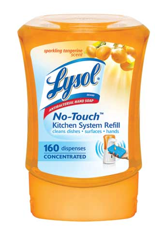 LYSOL NoTouch Kitchen System Refill  Sparkling Tangerine Canada Discontinued Photo