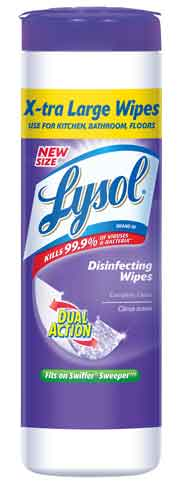 LYSOL Dual Action Disinfecting Wipes XL  Citrus Discontinued Photo