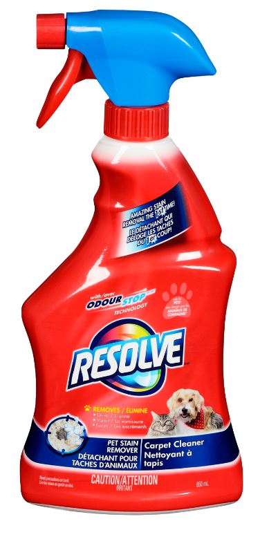RESOLVE Carpet Cleaner Pet Stain Remover Canada Photo