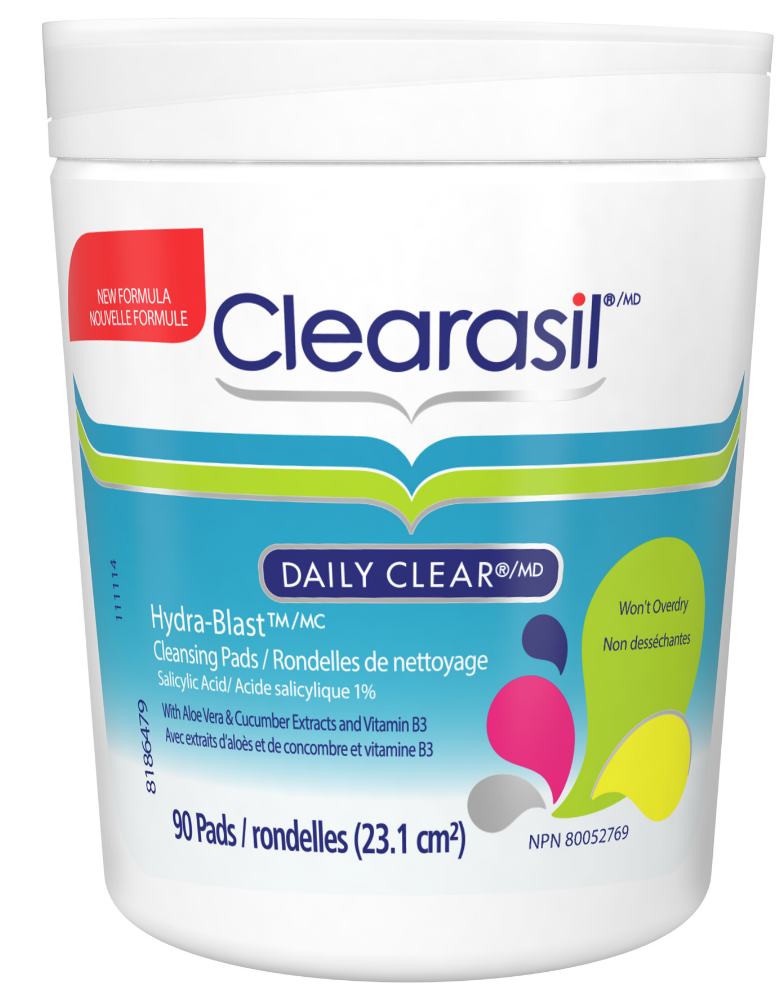 CLEARASIL® Daily Clear® Hydra-Blast™ Cleansing Pads (Canada)
