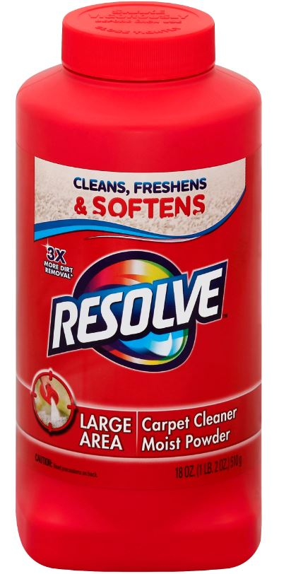 RESOLVE® Large Area Carpet Cleaner - Moist Powder