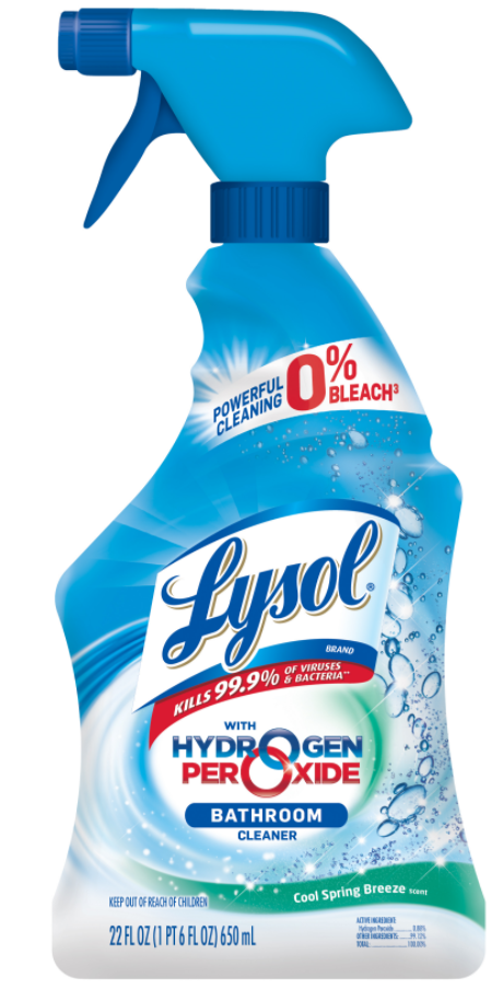 LYSOL Hydrogen Peroxide Bathroom Cleaner  Cool Spring Breeze Photo