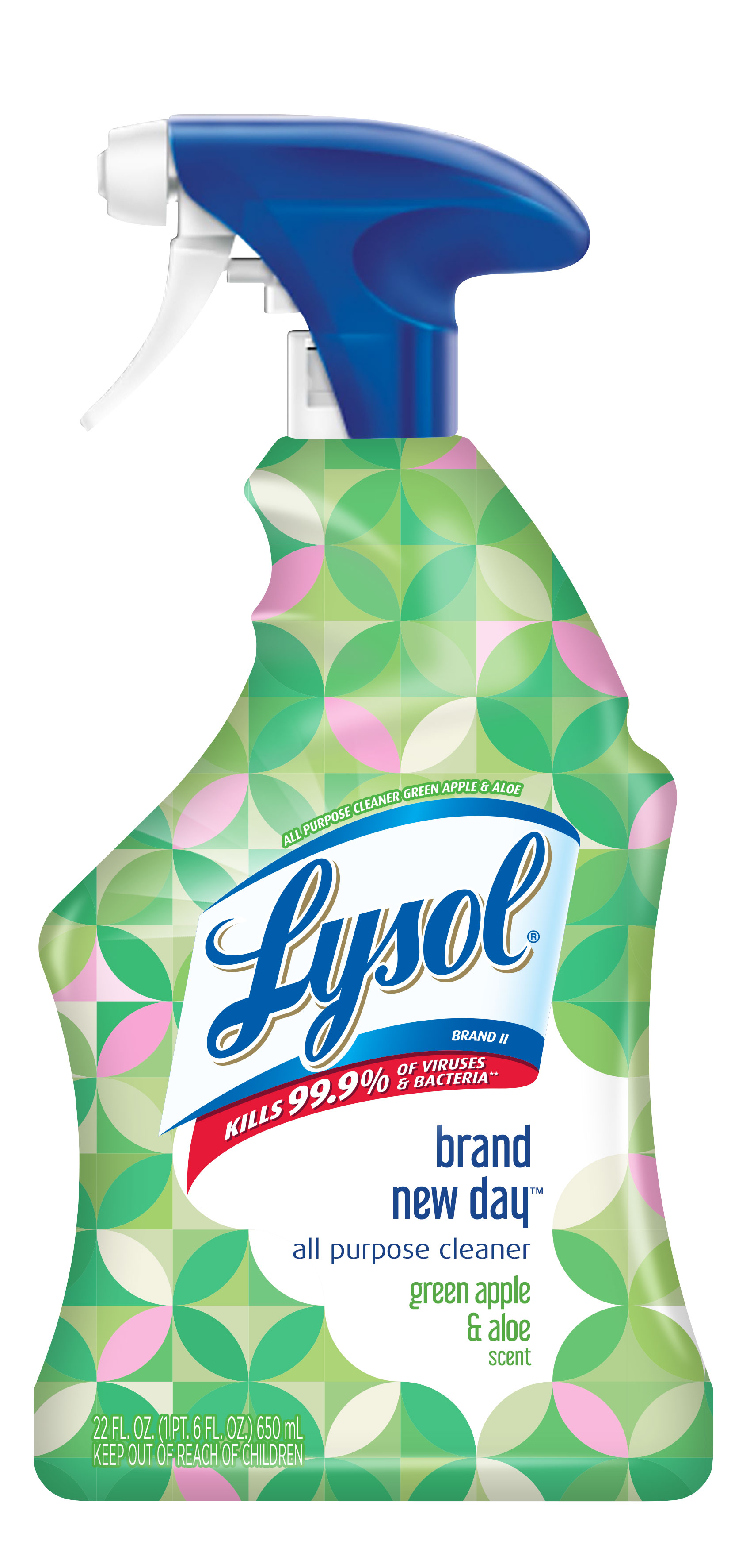 LYSOL All Purpose Cleaner  Brand New Day  Green Apple  Aloe Photo