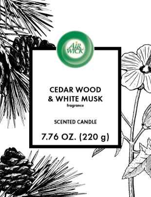 AIR WICK® Candle - Cedar Wood & White Musk