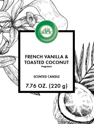 AIR WICK® Candle - French Vanilla & Toasted Coconut