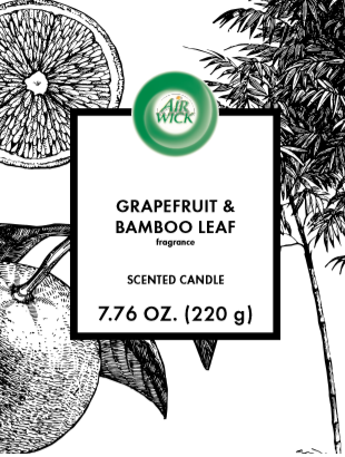 AIR WICK® Candle - Grapefruit & Bamboo Leaf