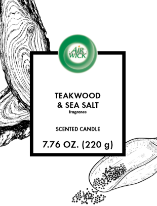 AIR WICK® Candle - Teakwood & Sea Salt