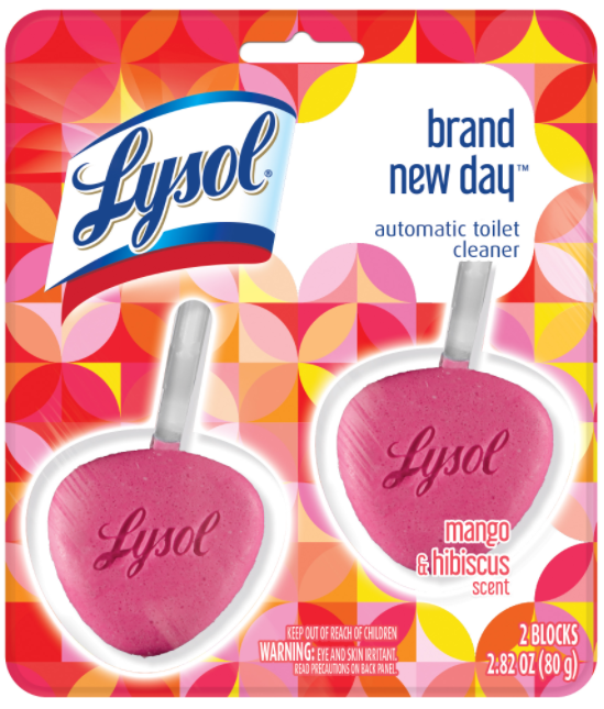 LYSOL® Automatic Toilet Cleaner - Brand New Day™ -  Mango & Hibiscus