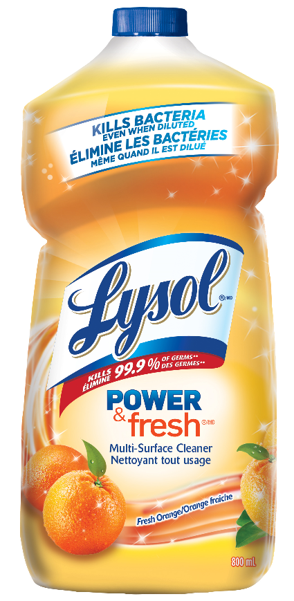 LYSOL® Power & Fresh™ Multi-Surface Cleaner - Pourable - Orange (Canada)