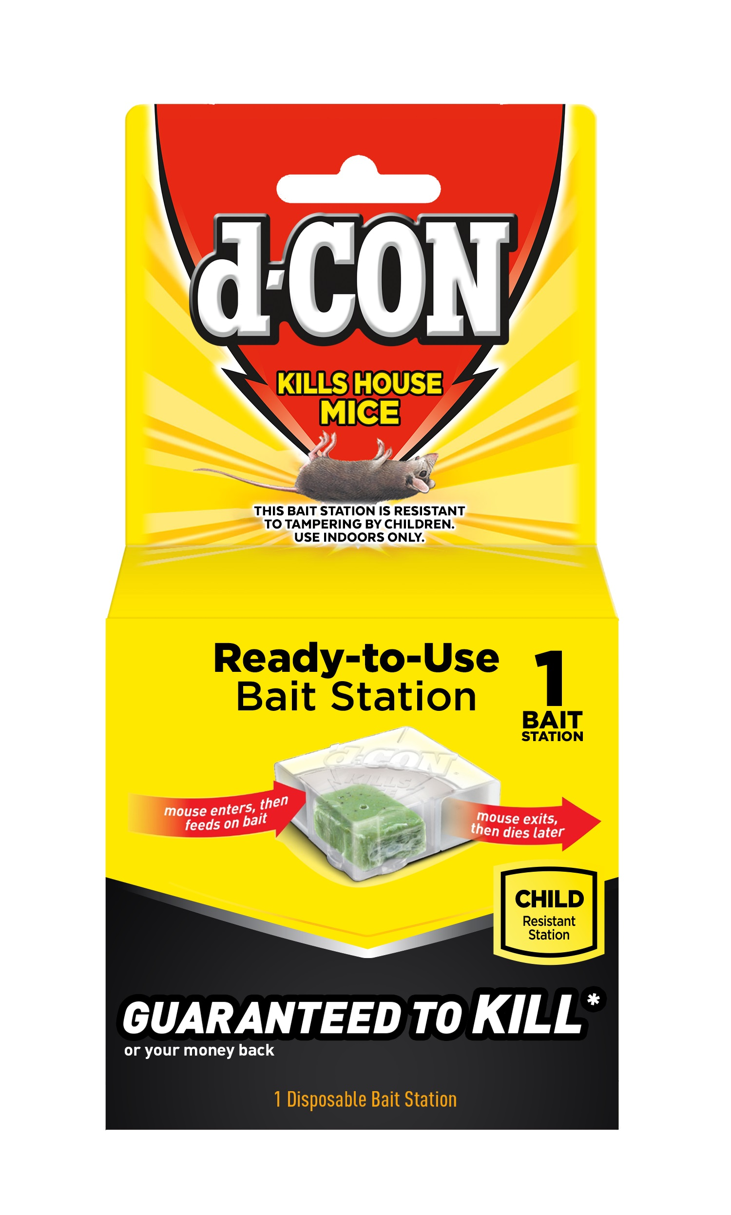 d-CON® Disposable Bait Station - Corner Fit
