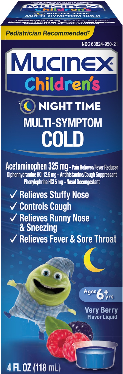 MUCINEX® CHILDREN'S Multi-Symptom Cold - Very (Night Time)