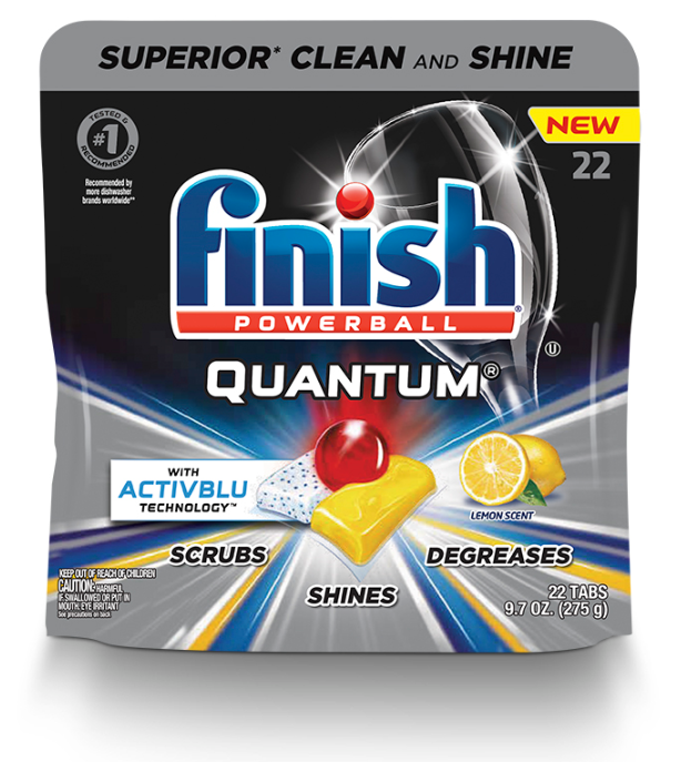 FINISH® Powerball® Quantum® Tabs with Activblu Technology™ - Lemon