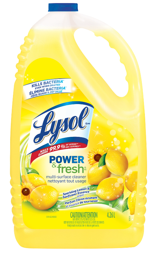 LYSOL® Power & Fresh Multi-Surface Cleaner - Pourable - Sparkling Lemon & Sunflower Essence (Canada)