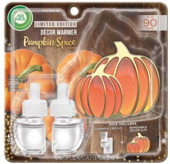 AIR WICK® Scented Oil - Pumpkin Spice - Kit (Pumpkin Decor Clip)