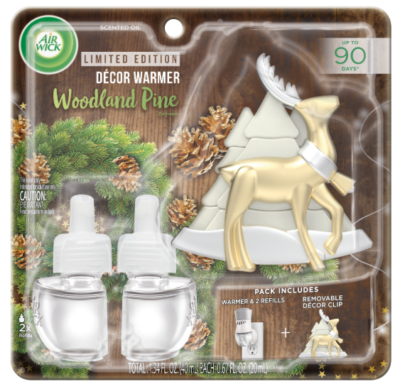 AIR WICK® Scented Oil - Woodland Pine - Kit (Reindeer Decor Clip)