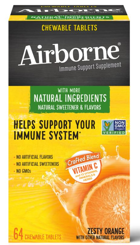 Airborne® Chewable Tablets  With More Natural Ingredients