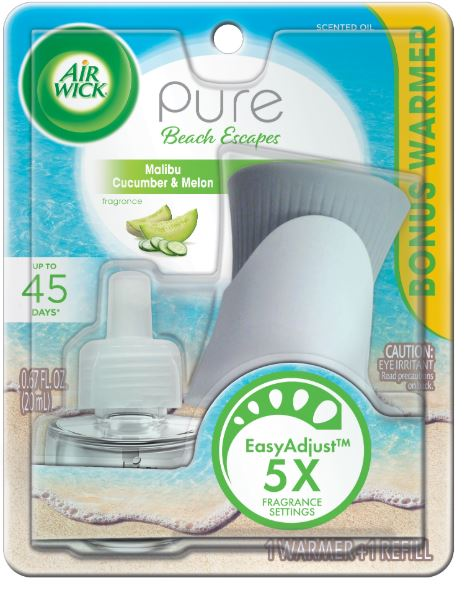 AIR WICK® Scented Oil Starter Kit - Pure Beach Escapes Malibu Cucumber & Melon