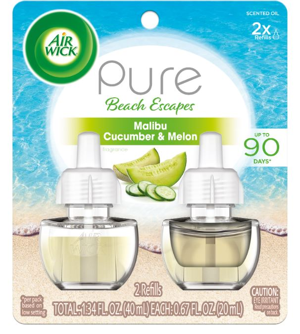 AIR WICK® Scented Oil - Pure Beach Escapes Malibu Cucumber & Melon