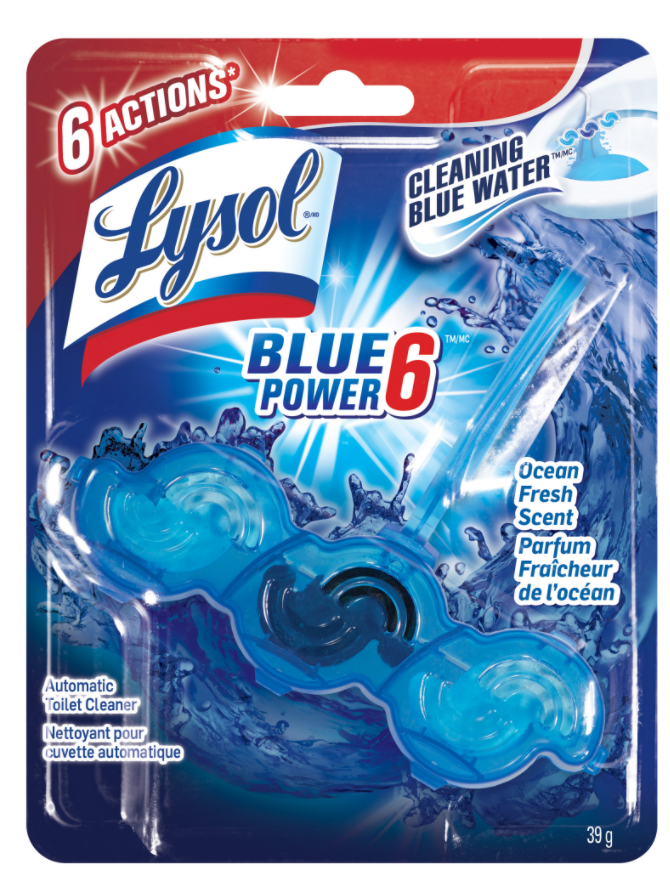 LYSOL® Automatic Toilet Cleaner Blue Power 6  - Atlantic Fresh (Canada)