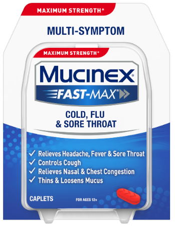 MUCINEX® FAST-MAX® Caplets - Cold, Flu & Sore Throat