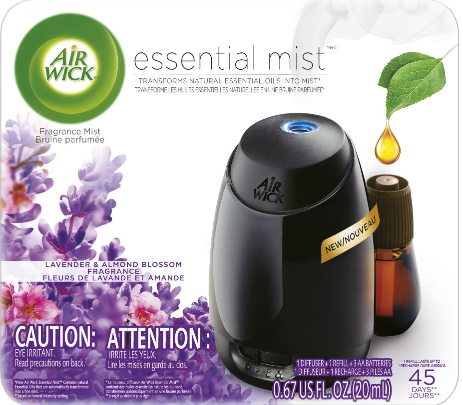 AIR WICK® Essential Mist Starter Kit - Lavender & Almond Blossom (Canada)