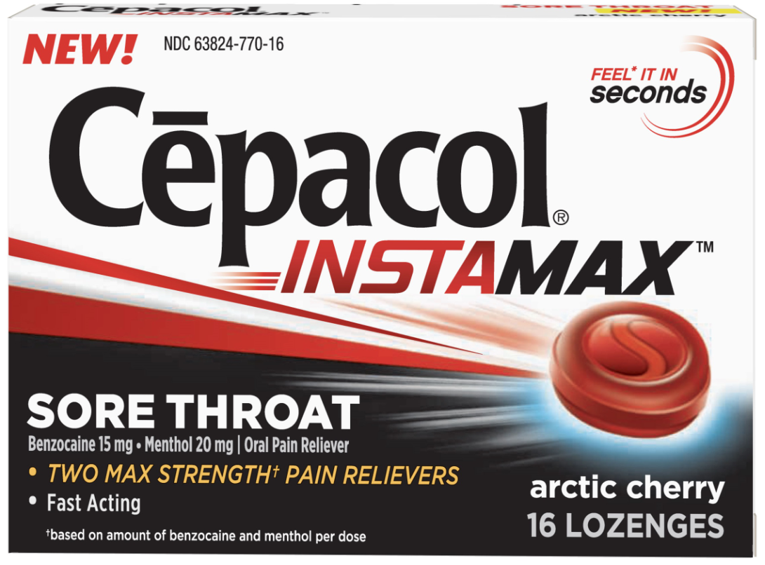 CEPACOL Instamax Sore Throat Lozenges  Arctic Cherry Photo