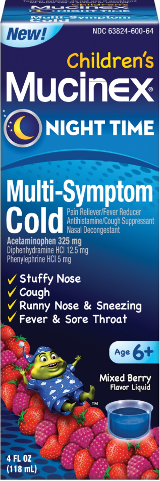 MUCINEX® Children's Multi-Symptom Cold - Mixed Berry (Night Time)