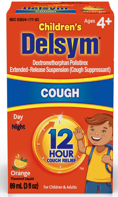 DELSYM Childrens 12 Hour Cough Liquid  Orange Photo