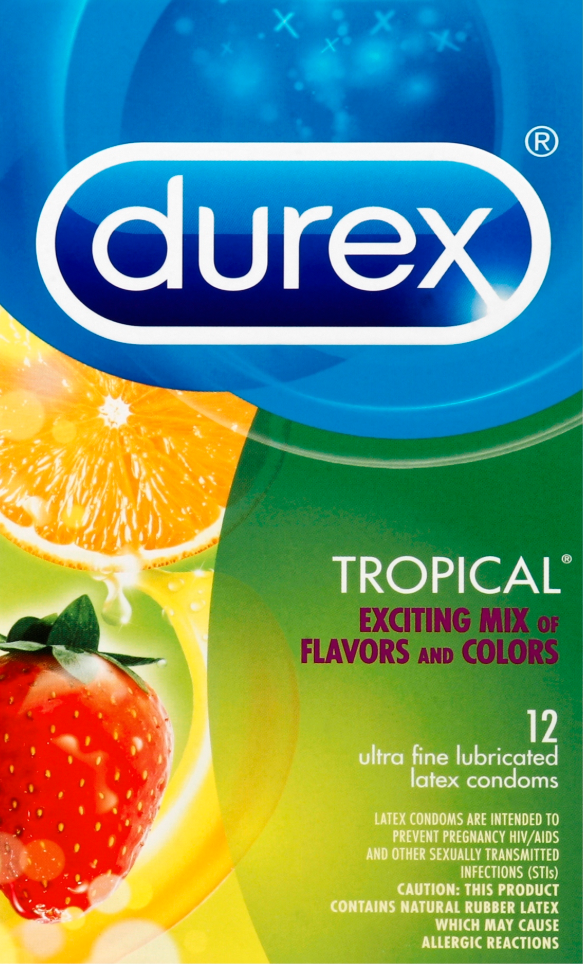 DUREX Tropical Exciting Mix of Flavors and Colors Condoms Photo