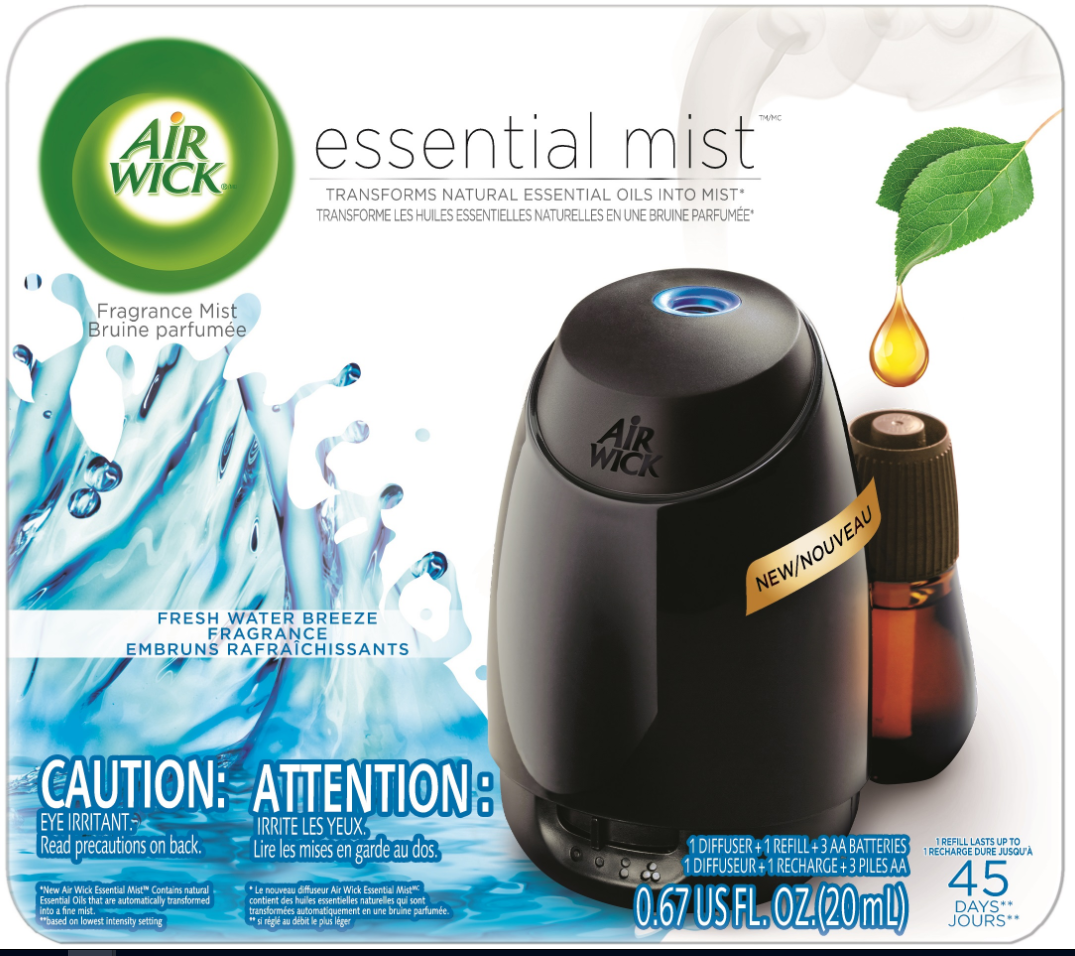 AIR WICK Essential Mist Starter Kit  Fresh Water Breeze Canada Photo