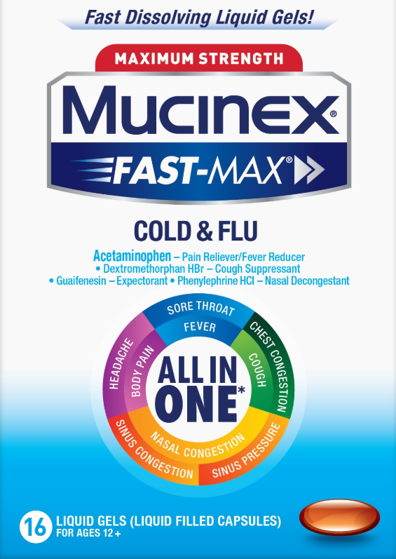 MUCINEX FASTMAX Liquid Gels  Cold  Flu Photo