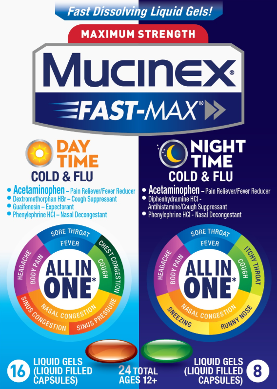 MUCINEX® FAST-MAX® Liquid Gels - Day Night Cold & Flu (Day)