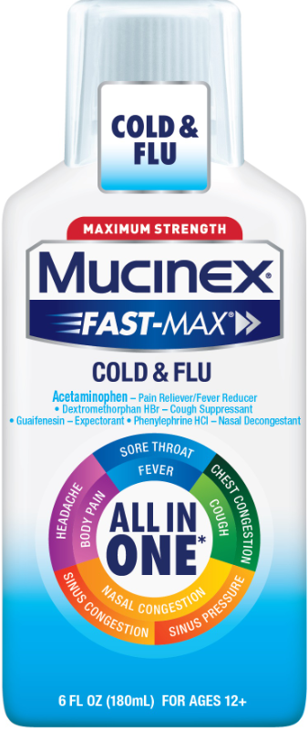 MUCINEX® FAST-MAX® Adult Liquid - Cold & Flu