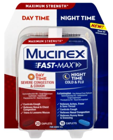 MUCINEX® FAST-MAX® Caplets - Day Night Cold & Flu (Night)