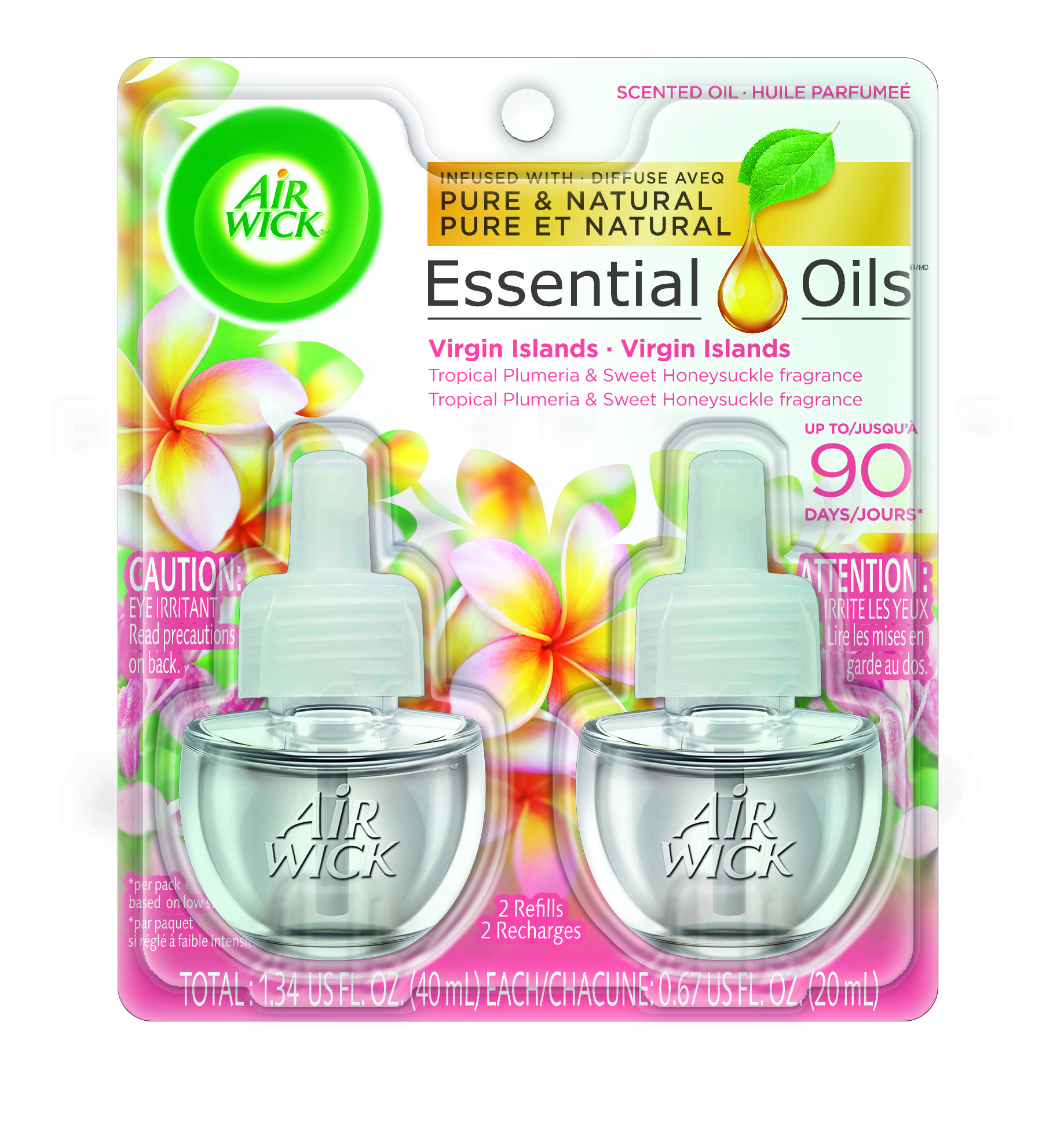 AIR WICK® Scented Oil - Virgin Islands Tropical Plumeria & Sweet Honeysuckle