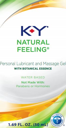 K-Y® Natural Feeling Lubricant & Massage Gel with Botanical Essence