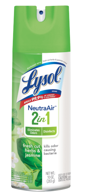 LYSOL® Disinfectant Spray - 2 in 1 - Fresh Cut Herbs & Jasmine