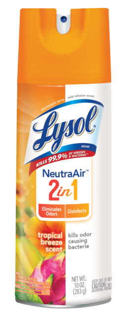 LYSOL® Disinfectant Spray - Neutra Air 2 in 1 - Tropical Breeze