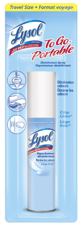 LYSOL Disinfectant Spray  To Go  Crisp Linen Canada Photo