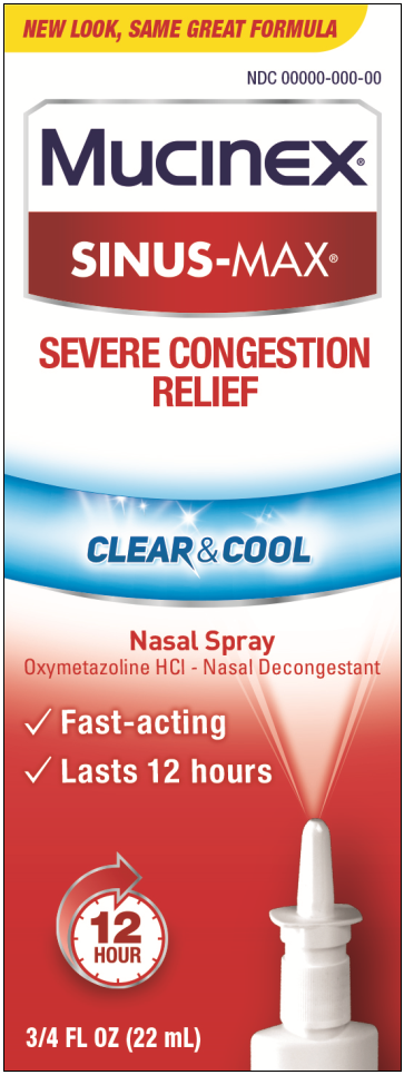 MUCINEX SINUSMAX Nasal Spray  Clear  Cool Photo