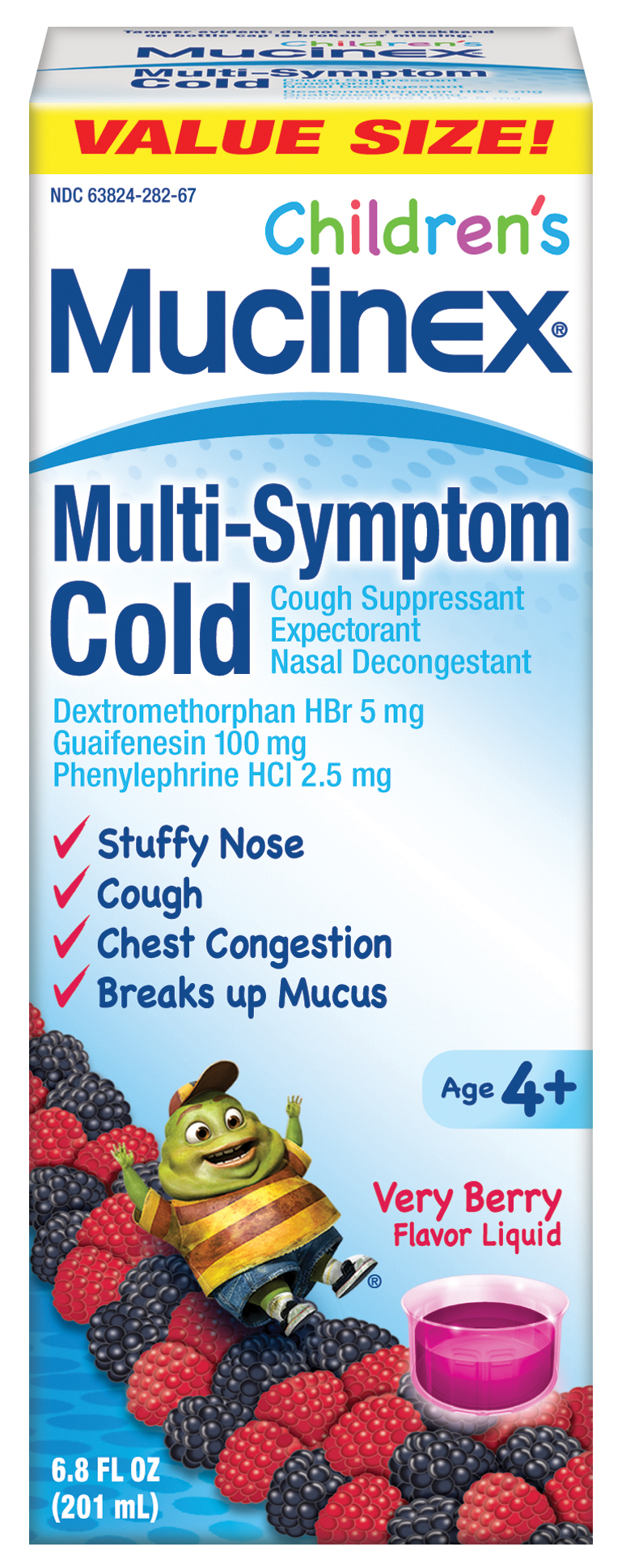 MUCINEX® Children's Multi-Symptom Liquid -Cold Very Berry