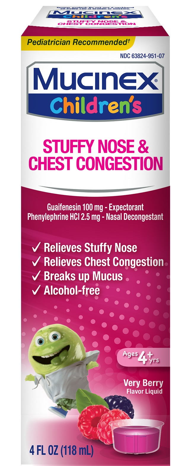 MUCINEX® CHILDREN'S Stuffy Nose & Chest Congestion - Very Berry