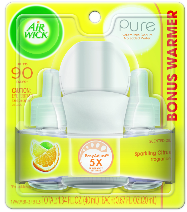 AIR WICK® Scented Oil Starter Kit - Pure Sparkling Citrus
