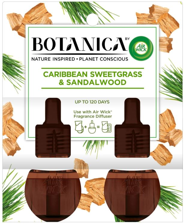 AIR WICK® Botanica Scented Oils - Caribbean Sweetgrass & Sandalwood