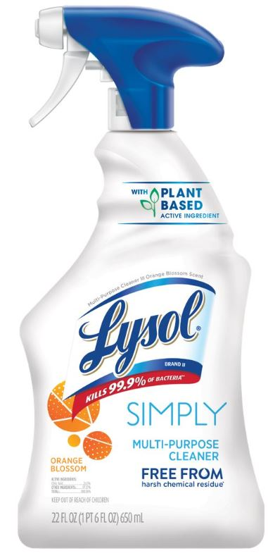 LYSOL MultiPurpose Cleaner  Simply  Orange Blossom Photo