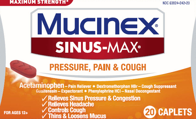MUCINEX SINUSMAX  Pressure Pain  Cough Caplets Photo