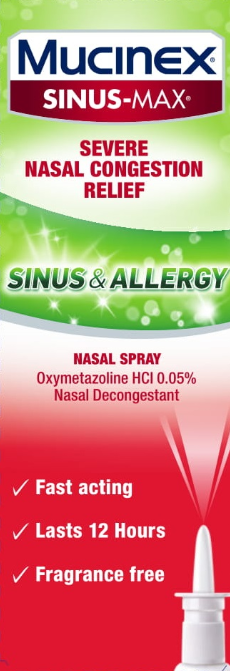 MUCINEX® SINUS-MAX® Nasal Spray - Sinus & Allergy