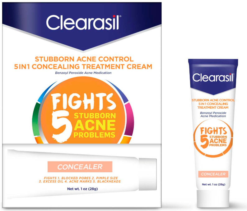 CLEARASIL Stubborn Acne Control 5 in 1 Concealing Treatment Cream Photo
